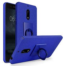 Nokia 6用ハードケース カバー プラスチック アンド指輪 ノキア ネイビー