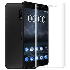 Nokia 6用強化ガラス 液晶保護フィルム T01 ノキア クリア