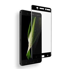 Nokia 6用強化ガラス フル液晶保護フィルム ノキア ブラック