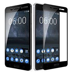 Nokia 6用強化ガラス フル液晶保護フィルム F02 ノキア ブラック