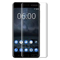 Nokia 6用強化ガラス 液晶保護フィルム T03 ノキア クリア