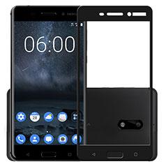 Nokia 6用強化ガラス フル液晶保護フィルム F03 ノキア ブラック