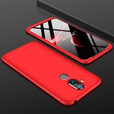 Nokia 7.1 Plus用ハードケース プラスチック 質感もマット 前面と背面 360度 フルカバー ノキア レッド