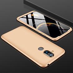 Nokia 7.1 Plus用ハードケース プラスチック 質感もマット 前面と背面 360度 フルカバー ノキア ゴールド