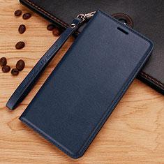 Nokia 7.1 Plus用手帳型 レザーケース スタンド ノキア ネイビー