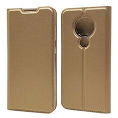 Nokia 7.2用手帳型 レザーケース スタンド カバー ノキア ゴールド