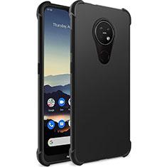 Nokia 7.2用極薄ソフトケース シリコンケース 耐衝撃 全面保護 ノキア ブラック