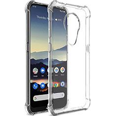 Nokia 7.2用極薄ソフトケース シリコンケース 耐衝撃 全面保護 クリア透明 T02 ノキア クリア