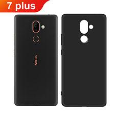 Nokia 7 Plus用極薄ソフトケース シリコンケース 耐衝撃 全面保護 ノキア ブラック