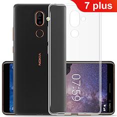 Nokia 7 Plus用極薄ソフトケース シリコンケース 耐衝撃 全面保護 クリア透明 カバー ノキア クリア