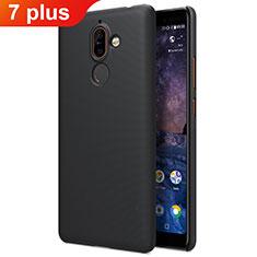 Nokia 7 Plus用ハードケース プラスチック 質感もマット ノキア ブラック