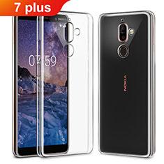 Nokia 7 Plus用極薄ソフトケース シリコンケース 耐衝撃 全面保護 クリア透明 T03 ノキア クリア