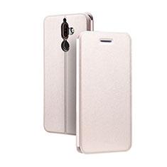 Nokia 7 Plus用手帳型 レザーケース スタンド ノキア ピンク