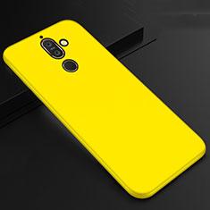 Nokia 7 Plus用極薄ソフトケース シリコンケース 耐衝撃 全面保護 S01 ノキア イエロー