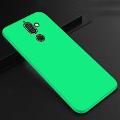 Nokia 7 Plus用極薄ソフトケース シリコンケース 耐衝撃 全面保護 S01 ノキア グリーン