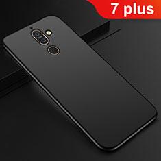 Nokia 7 Plus用極薄ソフトケース シリコンケース 耐衝撃 全面保護 S01 ノキア ブラック