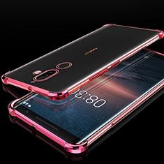 Nokia 7 Plus用極薄ソフトケース シリコンケース 耐衝撃 全面保護 クリア透明 H01 ノキア ローズゴールド