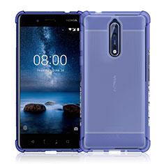 Nokia 8用極薄ソフトケース シリコンケース 耐衝撃 全面保護 クリア透明 カバー ノキア クリア