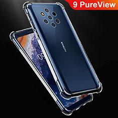 Nokia 9 PureView用極薄ソフトケース シリコンケース 耐衝撃 全面保護 クリア透明 T02 ノキア クリア
