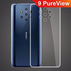 Nokia 9 PureView用極薄ソフトケース シリコンケース 耐衝撃 全面保護 クリア透明 T03 ノキア クリア