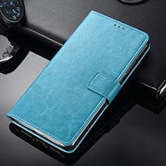 Nokia 9 PureView用手帳型 レザーケース スタンド ノキア ブルー