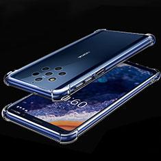 Nokia 9 PureView用極薄ソフトケース シリコンケース 耐衝撃 全面保護 クリア透明 H01 ノキア クリア