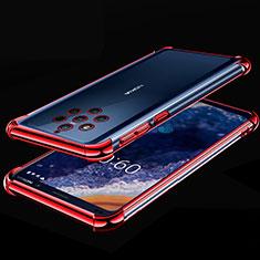 Nokia 9 PureView用極薄ソフトケース シリコンケース 耐衝撃 全面保護 クリア透明 H01 ノキア レッド