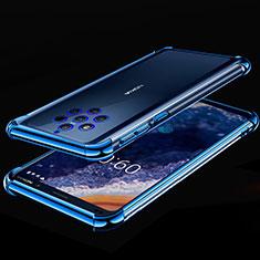 Nokia 9 PureView用極薄ソフトケース シリコンケース 耐衝撃 全面保護 クリア透明 H01 ノキア ネイビー