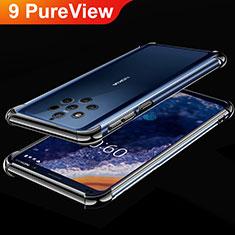 Nokia 9 PureView用極薄ソフトケース シリコンケース 耐衝撃 全面保護 クリア透明 H01 ノキア ブラック