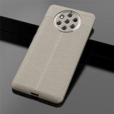 Nokia 9 PureView用シリコンケース ソフトタッチラバー レザー柄 ノキア ゴールド