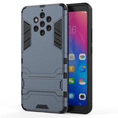 Nokia 9 PureView用ハイブリットバンパーケース スタンド プラスチック 兼シリコーン カバー ノキア ネイビー