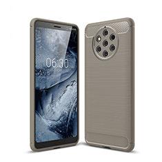 Nokia 9 PureView用シリコンケース ソフトタッチラバー ツイル カバー ノキア グレー