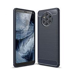 Nokia 9 PureView用シリコンケース ソフトタッチラバー ツイル カバー ノキア ネイビー