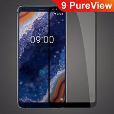 Nokia 9 PureView用強化ガラス フル液晶保護フィルム ノキア ブラック