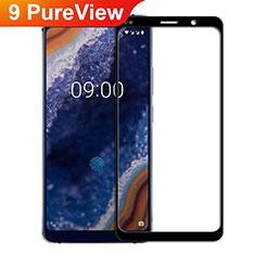Nokia 9 PureView用強化ガラス フル液晶保護フィルム F02 ノキア ブラック