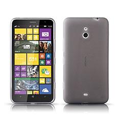 Nokia Lumia 1320用極薄ソフトケース シリコンケース 耐衝撃 全面保護 クリア透明 ノキア グレー