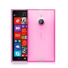 Nokia Lumia 1520用極薄ソフトケース シリコンケース 耐衝撃 全面保護 クリア透明 ノキア ピンク