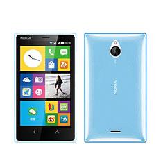 Nokia X2 Dual Sim用極薄ソフトケース シリコンケース 耐衝撃 全面保護 クリア透明 ノキア ネイビー