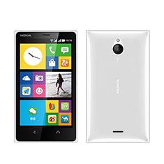Nokia X2 Dual Sim用極薄ソフトケース シリコンケース 耐衝撃 全面保護 クリア透明 ノキア ホワイト