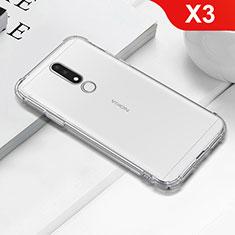 Nokia X3用極薄ソフトケース シリコンケース 耐衝撃 全面保護 クリア透明 T02 ノキア クリア