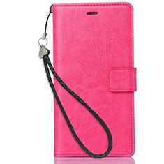 Nokia X3用手帳型 レザーケース スタンド ノキア ローズレッド