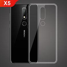Nokia X5用極薄ソフトケース シリコンケース 耐衝撃 全面保護 クリア透明 T02 ノキア クリア