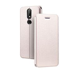 Nokia X5用手帳型 レザーケース スタンド ノキア ピンク