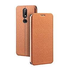 Nokia X5用手帳型 レザーケース スタンド ノキア ブラウン