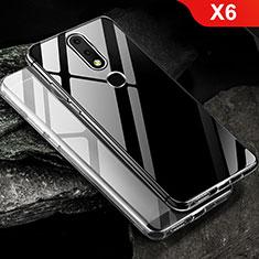 Nokia X6用極薄ソフトケース シリコンケース 耐衝撃 全面保護 クリア透明 T02 ノキア クリア
