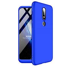 Nokia X6用ハードケース プラスチック 質感もマット 前面と背面 360度 フルカバー ノキア ネイビー