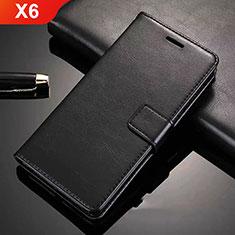 Nokia X6用手帳型 レザーケース スタンド L02 ノキア ブラック