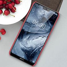 Nokia X6用ハードケース プラスチック 質感もマット M01 ノキア レッド