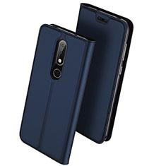 Nokia X6用手帳型 レザーケース スタンド L01 ノキア ネイビー