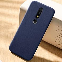 Nokia X6用前面と背面 360度 フルカバー 極薄ソフトケース シリコンケース 耐衝撃 全面保護 バンパー ノキア ネイビー